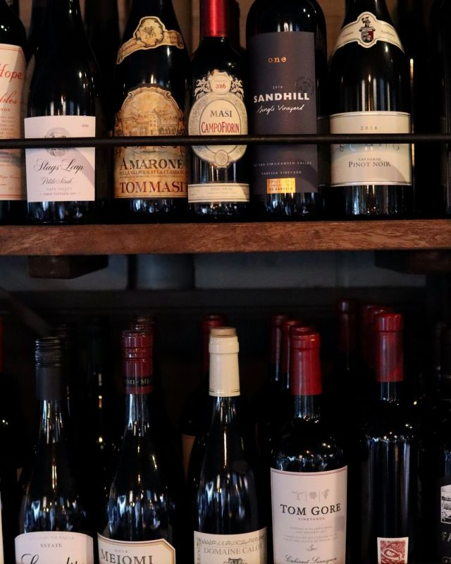 🍷 Sip Back & Relax   All dressed up and merlot place to go? Clearly, you have wine on your mind, and we're here to help. Red, white, rose, sparkling? We've got it all, from Happy Hour (2 PM to 4:30 PM) Recession Red and Cheap & Cheerful White for $5, to Stag's Leap and  Barolo.  Join us tonight, and make pour decisions.