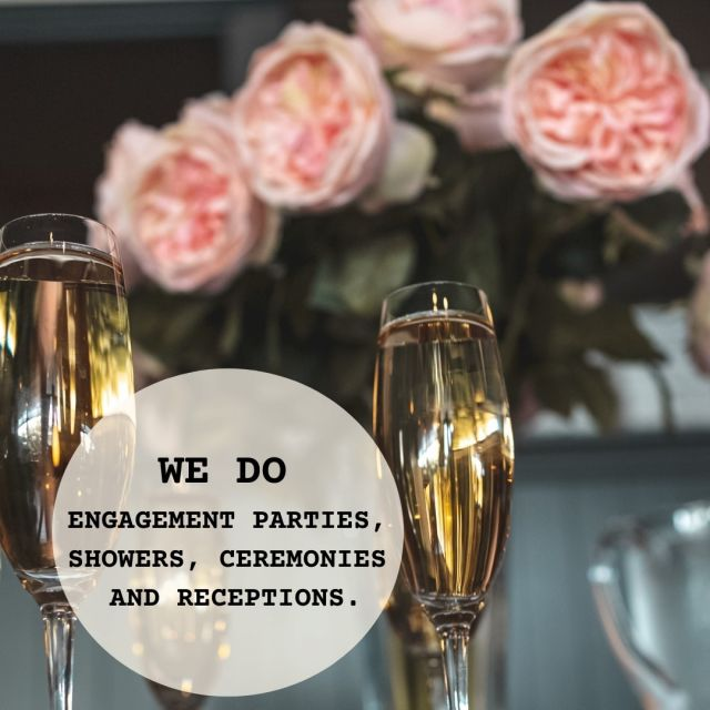 We Do 👰 Private Events  We do engagement parties, 💍 bridal showers, ceremonies, and receptions. Our private event space is your canvas to celebrate and create beautiful milestone moments.   Visit our website for 🍽 set menus, design ideas, virtual tours, and inquiries about our space.